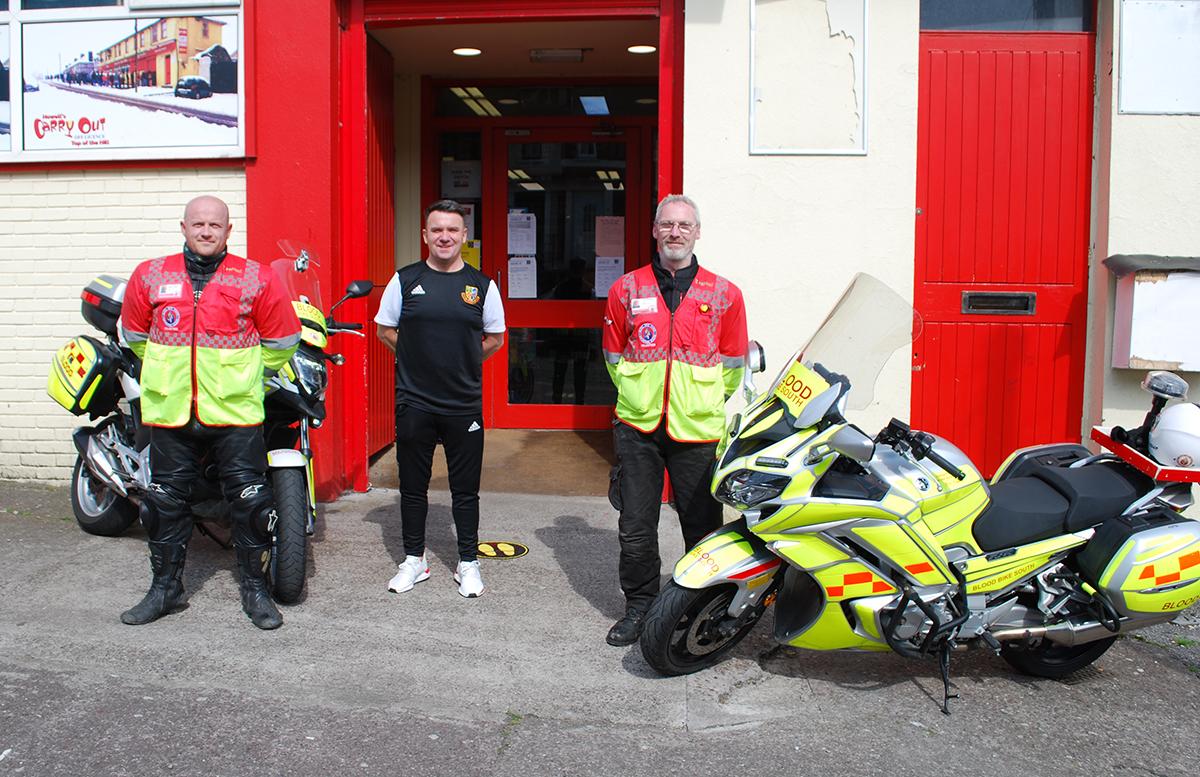 Irish Soccer Referees Society Proud sponsor of Blood BikesSouth
